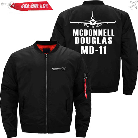 PilotX Jacket Black thin / XS MCDONNELL DOUGLAS MD-11 Jacket -US Size