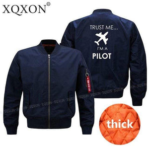 PilotX Jacket Dark blue thick / 4XL Trust me I'm a pilot Jacket -US Size