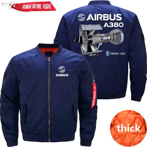 PilotX Jacket Dark blue thick / S Airbus A380 TRENT 900 Jacket -US Size