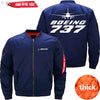 PilotX Jacket Dark blue thick / S B 737 Jacket -US Size