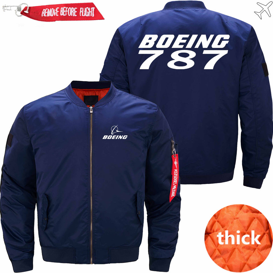 PilotX Jacket Dark blue thick / S B 787 Jacket -US Size
