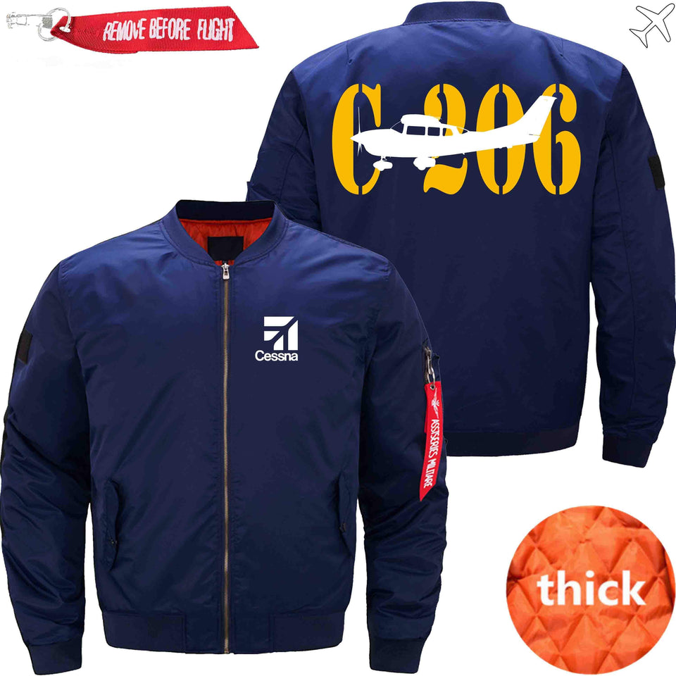 PilotX Jacket Dark blue thick / S CESSNA 206 Jacket -US Size