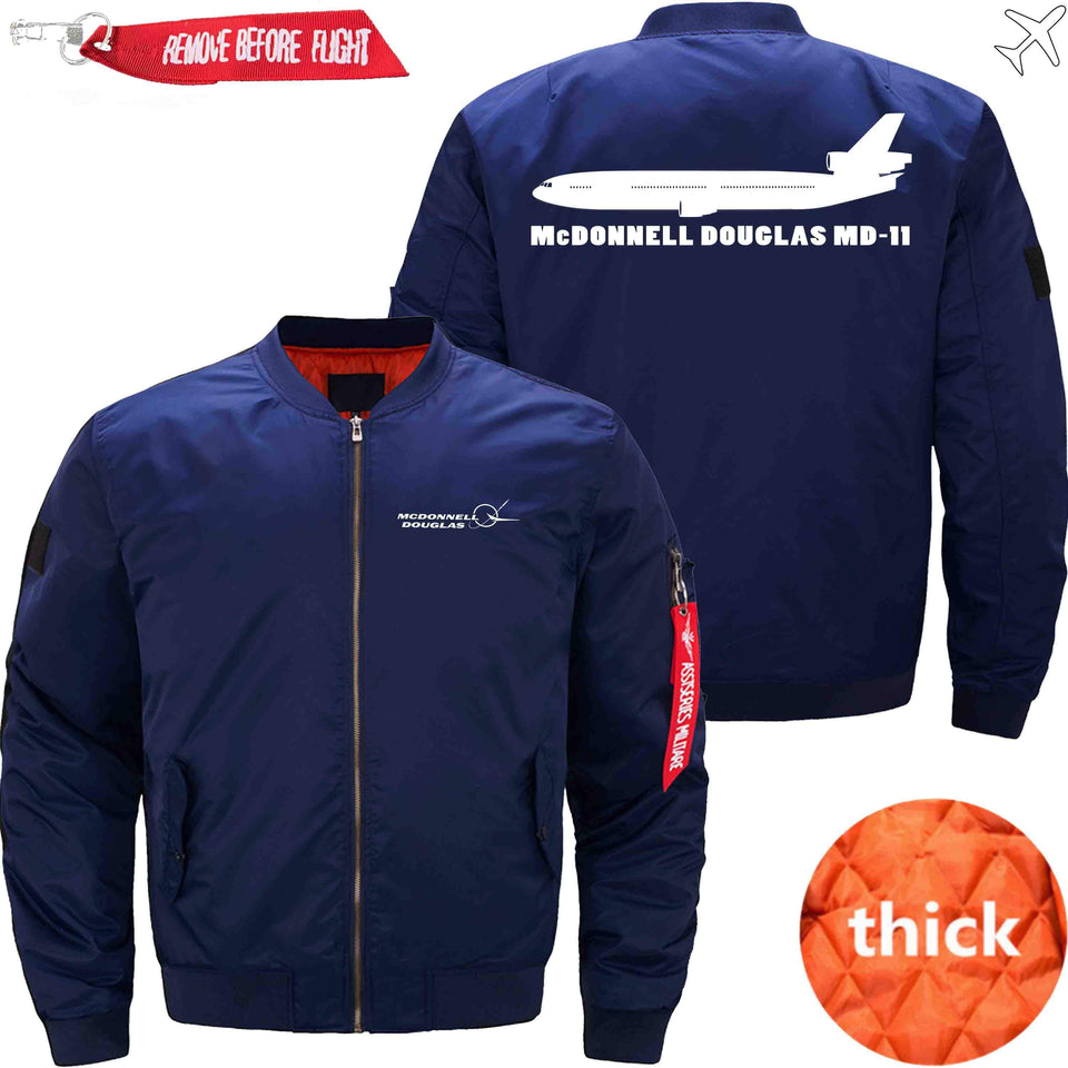PilotX Jacket Dark blue thick / S McDonnell Douglas MD-11 Jacket -US Size
