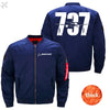 PilotX Jacket Dark blue thick / S The 737 Jacket -US Size