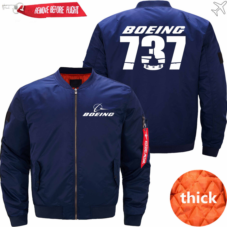 PilotX Jacket Dark blue thick / S The-737 Jacket -US Size
