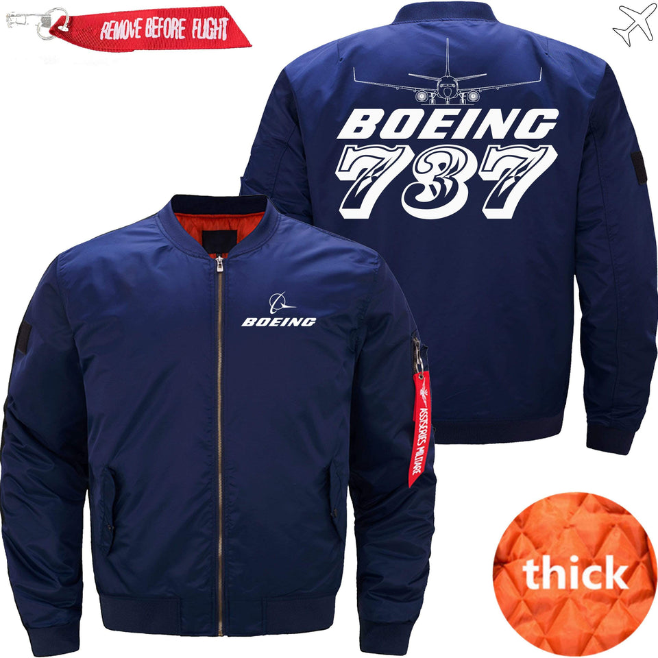 PilotX Jacket Dark blue thick / S The 787 Jacket -US Size