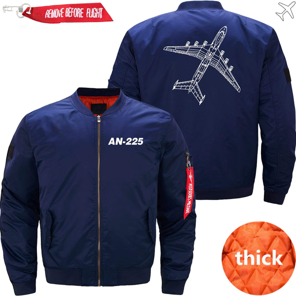 PilotX Jacket Dark blue thin / XS Antonov An-225 Diagram -US Size