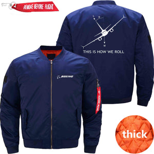 PilotX Jacket Dark blue thick / XS THIS IS HOW WE ROLL B737 Jacket -US Size