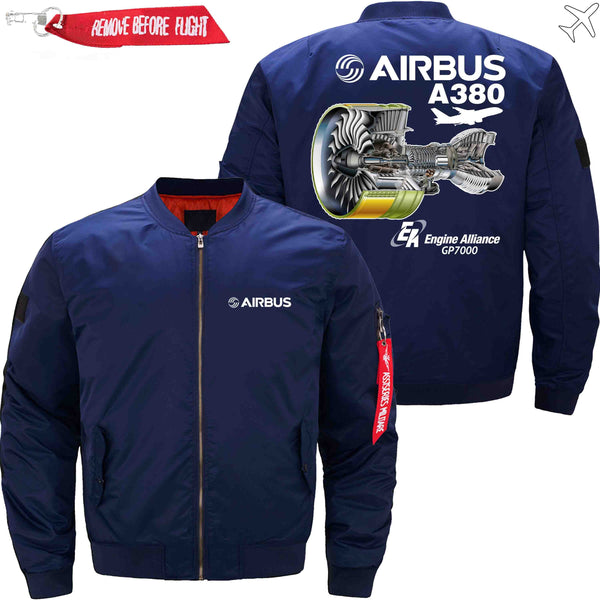 PilotX Jacket Black thick / S AIRBUS A380 GP7000 Jacket -US Size