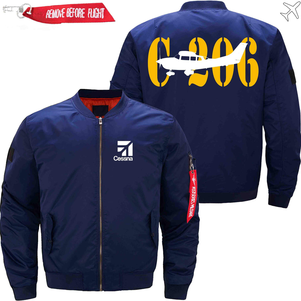PilotX Jacket Dark blue thin / S CESSNA 206 Jacket -US Size