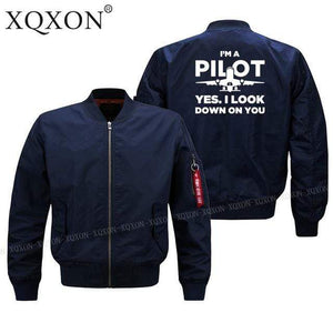 PilotX Jacket Dark blue thin / S Funny Airplane Pilot Jacket -US Size