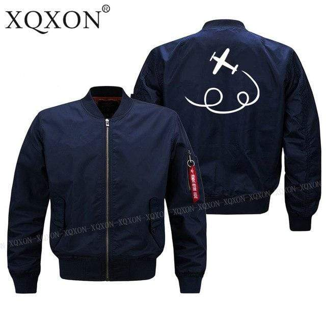 PilotX Jacket Dark blue thin / S personality airplane design Jacket -US Size