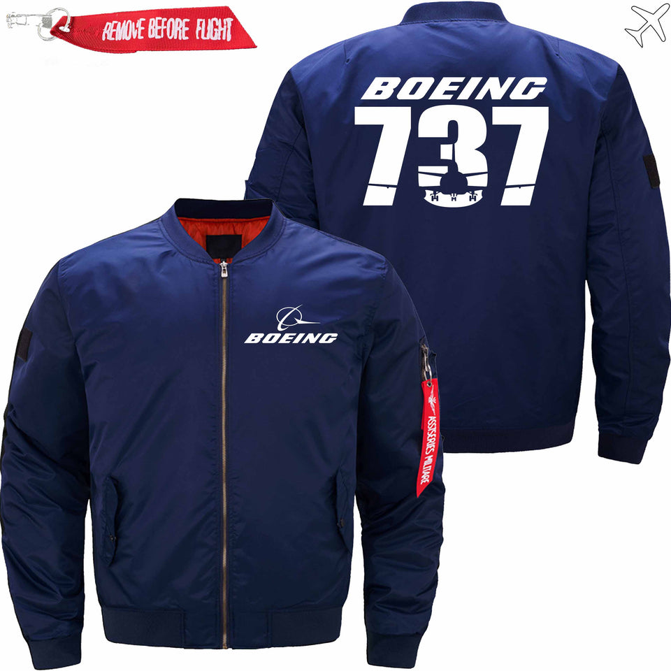 PilotX Jacket Dark blue thin / S The-737 Jacket -US Size