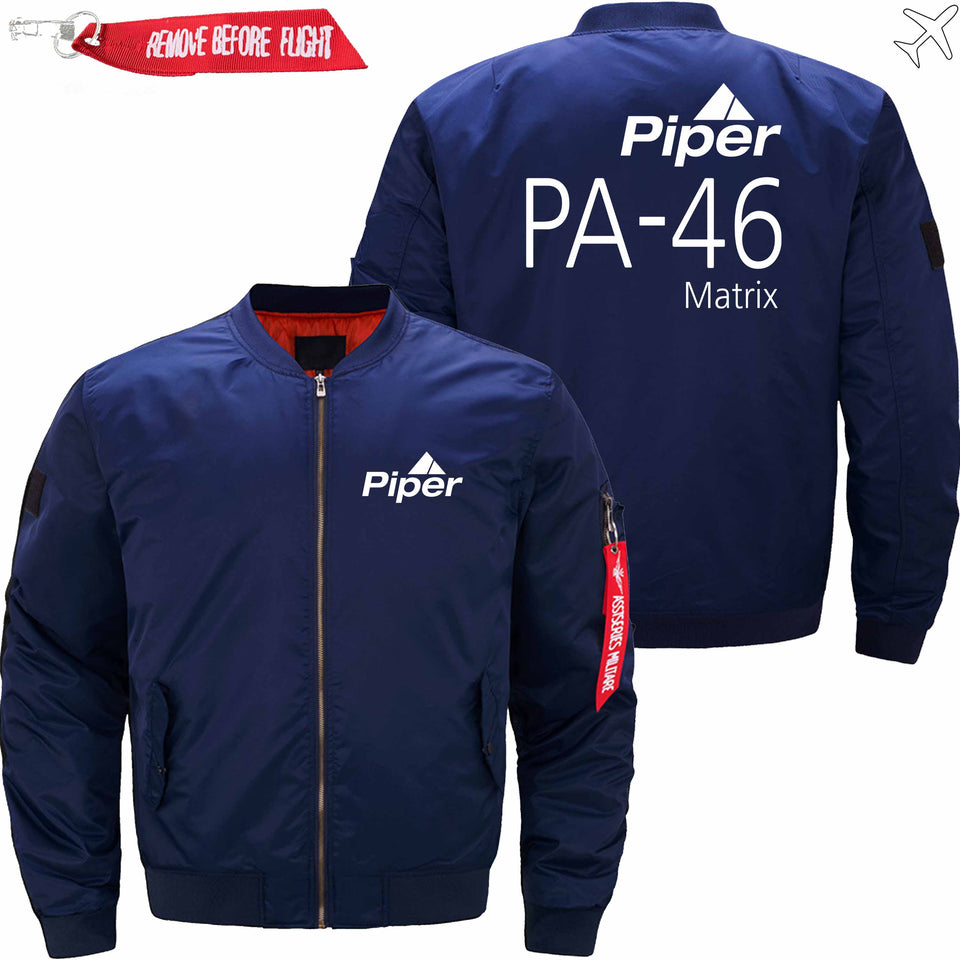 PilotX Jacket Dark blue thin / S (US XXS) Piper PA-46 Jacket -US Size