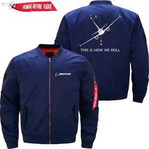 PilotX Jacket Dark blue thin / XS THIS IS HOW WE ROLL B737 Jacket -US Size