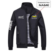 PilotX Summer Jacket Black+Name / S THE AIRBUS A350 WXB STYLISH DESIGNED JACKETS