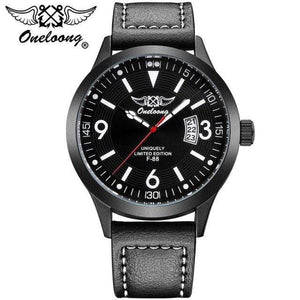 PilotX White F-88 Air Fighter Pilot Watch