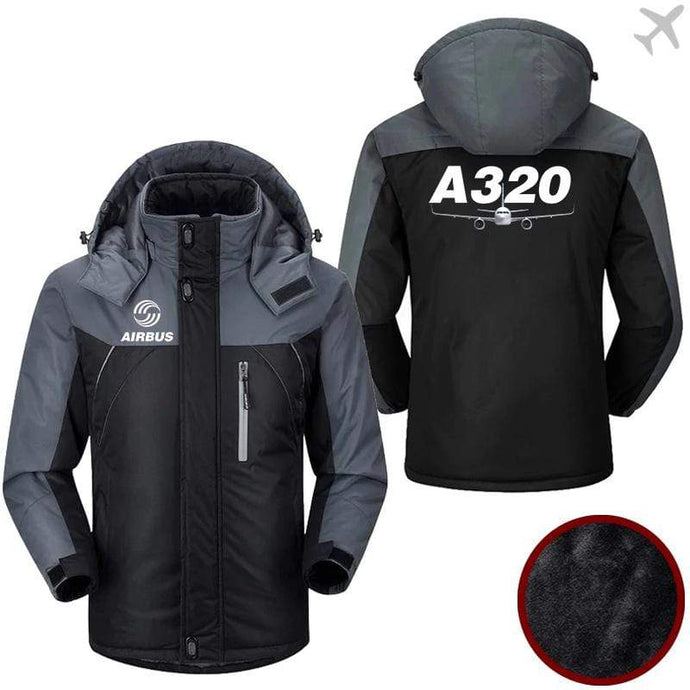 PilotX Windbreaker Jackets Black Gray / M Airbus-A320 Jacket