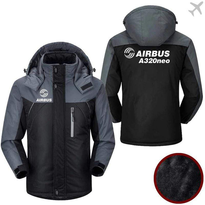 PilotX Windbreaker Jackets Black Gray / M Airbus A320neo Jacket