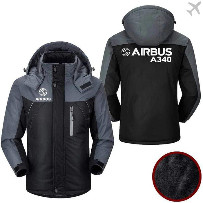 PilotX Windbreaker Jackets Black Gray / M Airbus-A340 Jacket