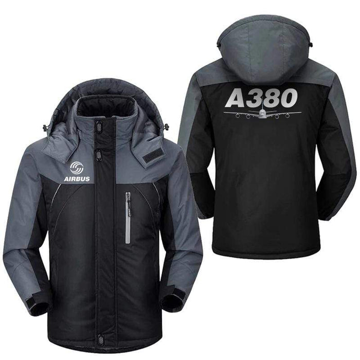 PilotX Windbreaker Jackets Black Gray / M Airbus A380 Jacket