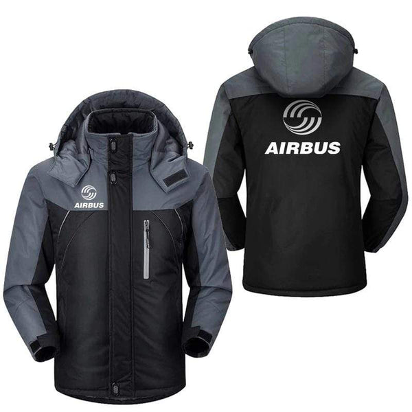 PilotX Windbreaker Jackets Black Gray / M Airbus logo Jacket