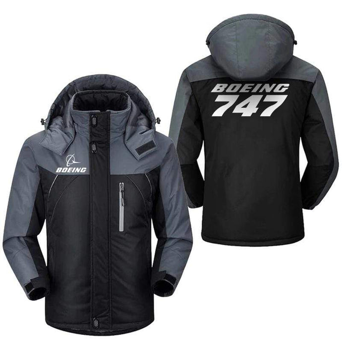 PilotX Windbreaker Jackets Black Gray / M Boeing 747 Jacket