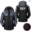 PilotX Windbreaker Jackets Black Gray / M Boeing-757 Jacket -US Size