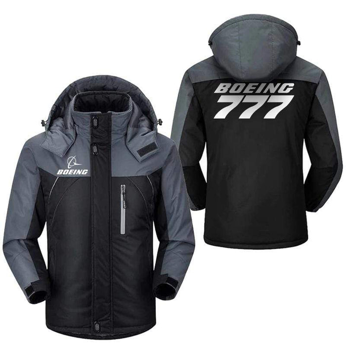PilotX Windbreaker Jackets Black Gray / M Boeing 777 Jacket