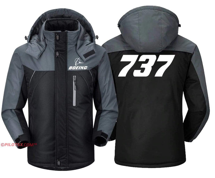 PilotX Windbreaker Jackets Black Gray / S 737 Jacket