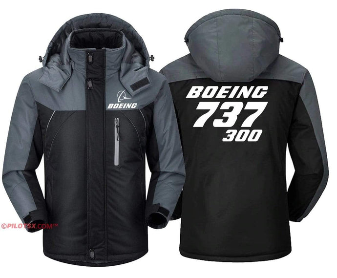 PilotX Windbreaker Jackets Black Gray / S Boeing 737-300 Jacket