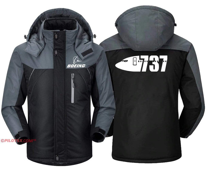 PilotX Windbreaker Jackets Black Gray / S Boeing 737 Nose Jacket
