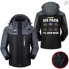 PilotX Windbreaker Jackets Black Gray / S Six pack Jacket -US Size