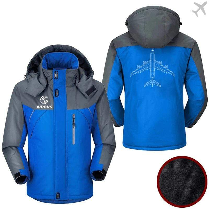 PilotX Windbreaker Jackets Blue Gray / M Airbus Shape Jacket