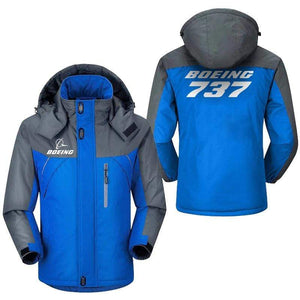 PilotX Windbreaker Jackets Blue Gray / M Boeing 737 Jacket