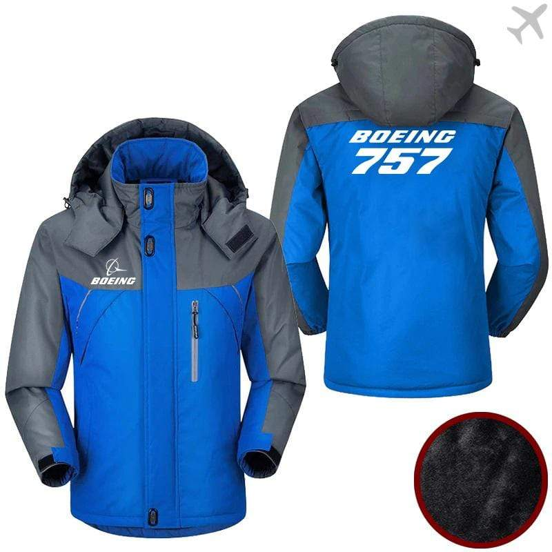 PilotX Windbreaker Jackets Blue Gray / M Boeing-757 Jacket -US Size