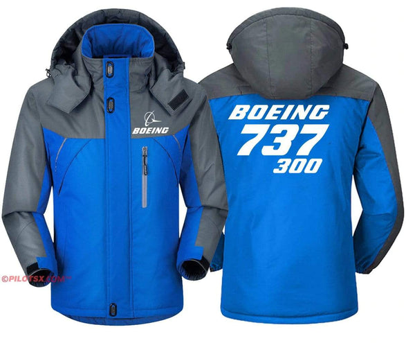 PilotX Windbreaker Jackets Red Gray / S Boeing 737-300 Jacket
