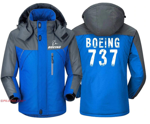 PilotX Windbreaker Jackets Red Gray / S Boeing 737 Jacket