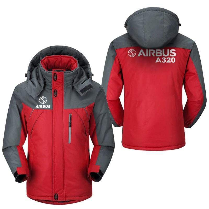 PilotX Windbreaker Jackets Red Gray / M Airbus A320 Jacket