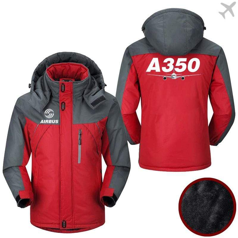 PilotX Windbreaker Jackets Red Gray / M Airbus A350 Jacket