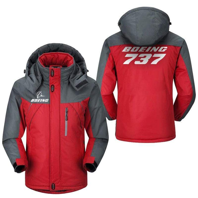 PilotX Windbreaker Jackets Red Gray / M Boeing 737 Jacket