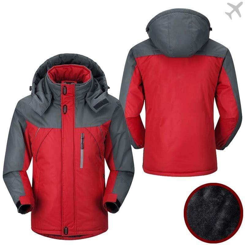 PilotX Windbreaker Jackets Red Gray / S Six pack Jacket -US Size