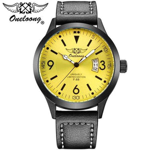 PilotX Yellow F-88 Air Fighter Pilot Watch