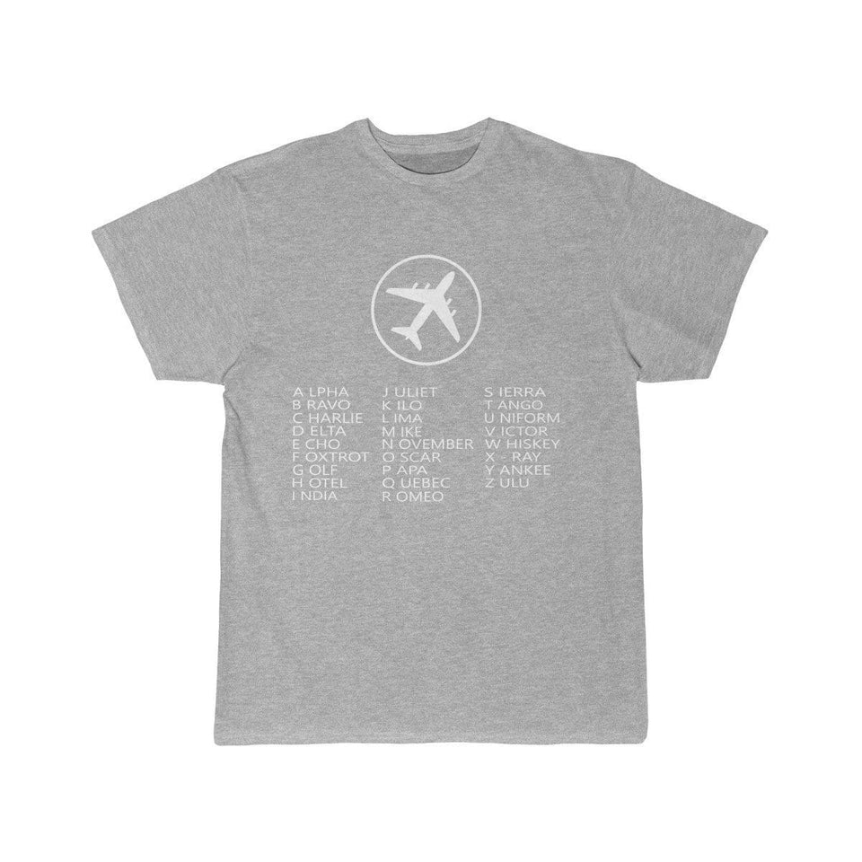 Printify T-shirt Athletic Heather / S AVIATION ALPHABET 2 DESIGNED CHILDREN T-SHIRTS