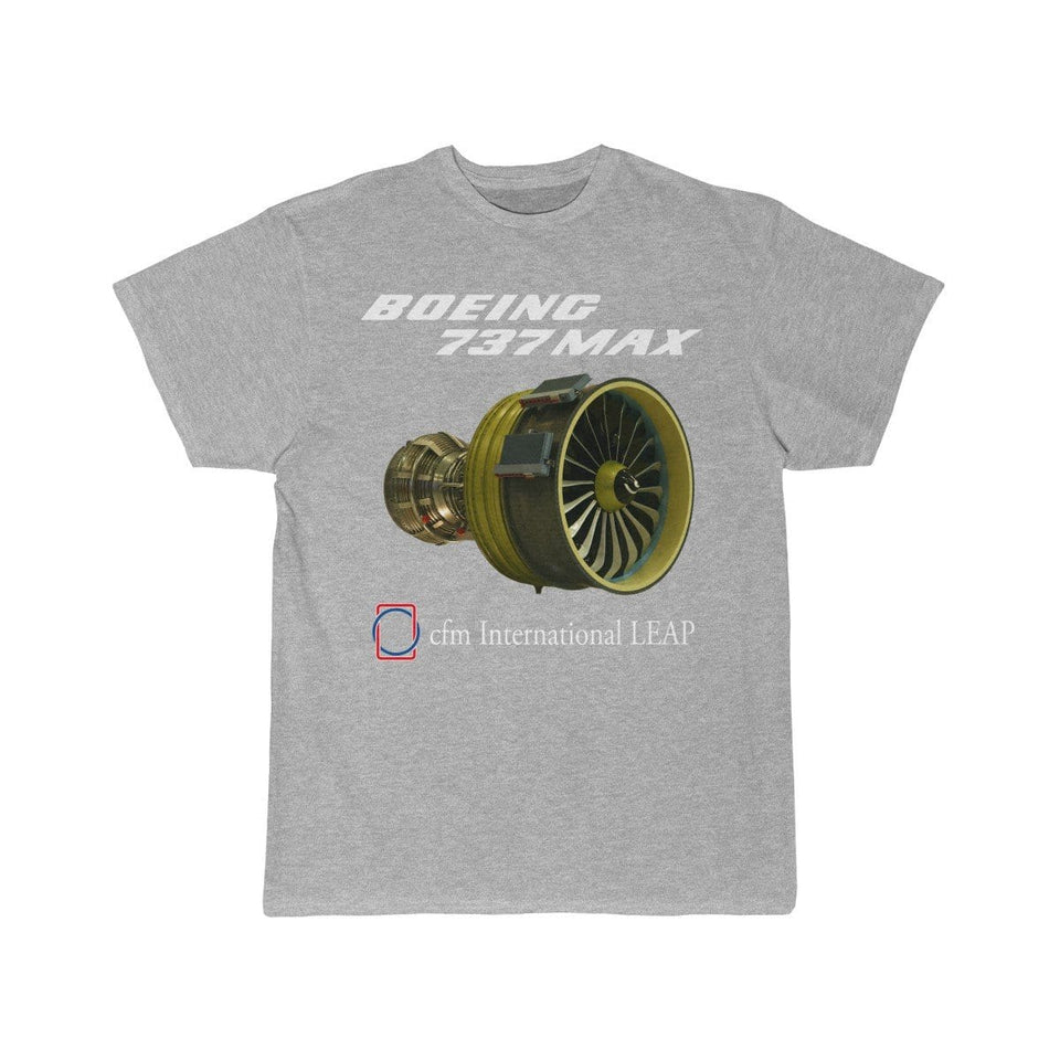 Printify T-shirt Athletic Heather / S Boeing B737 Max