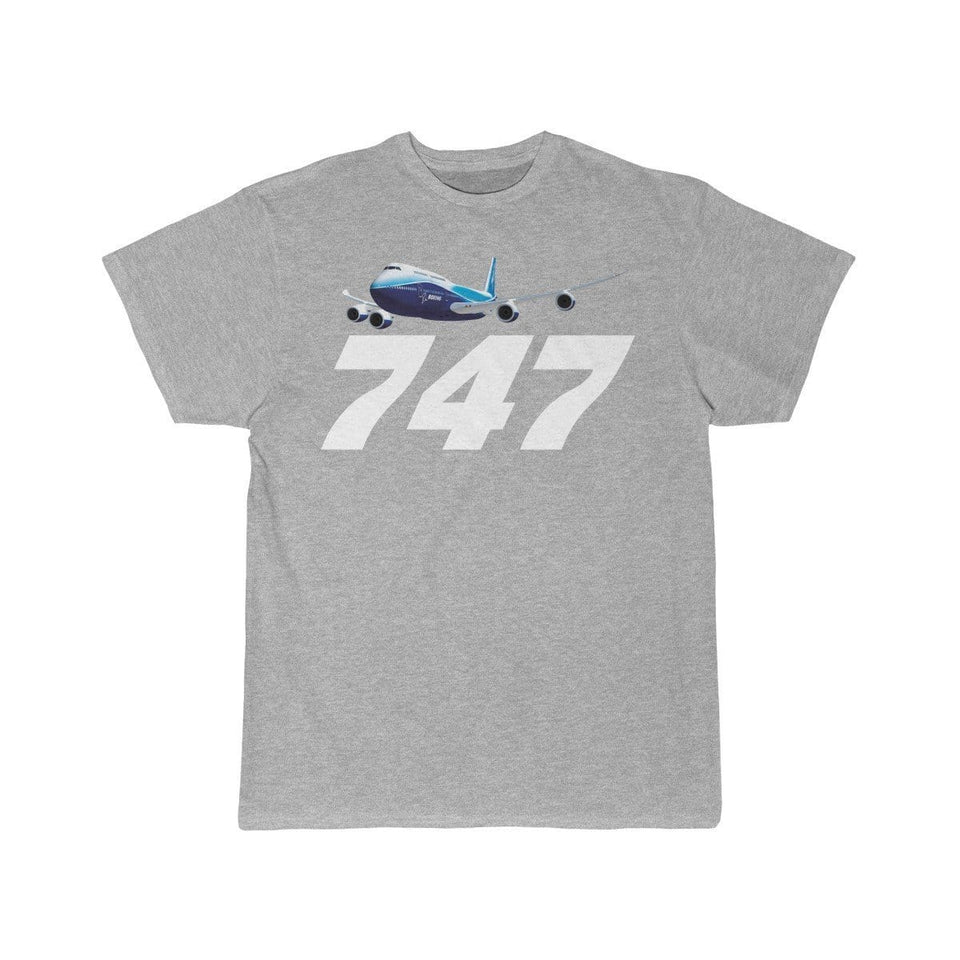 Printify T-shirt Athletic Heather / S Boeing B747