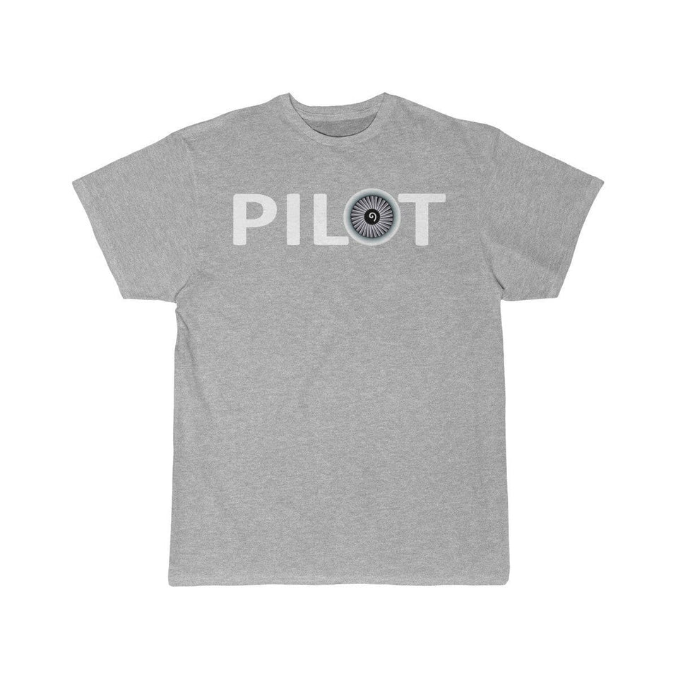 Printify T-shirt Athletic Heather / S PILOT (JET ENGINE) DESIGNED