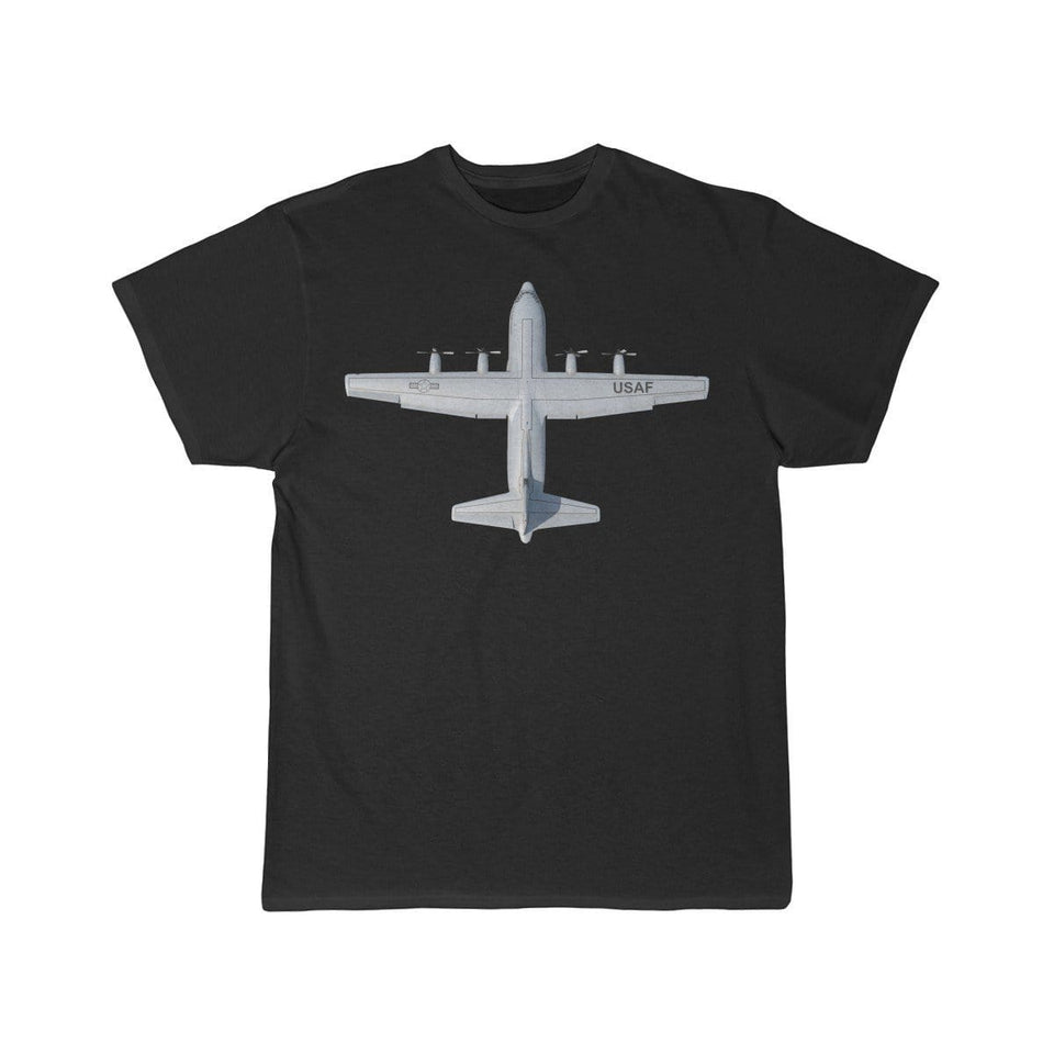 Printify T-shirt Black / L Lockheed C-130