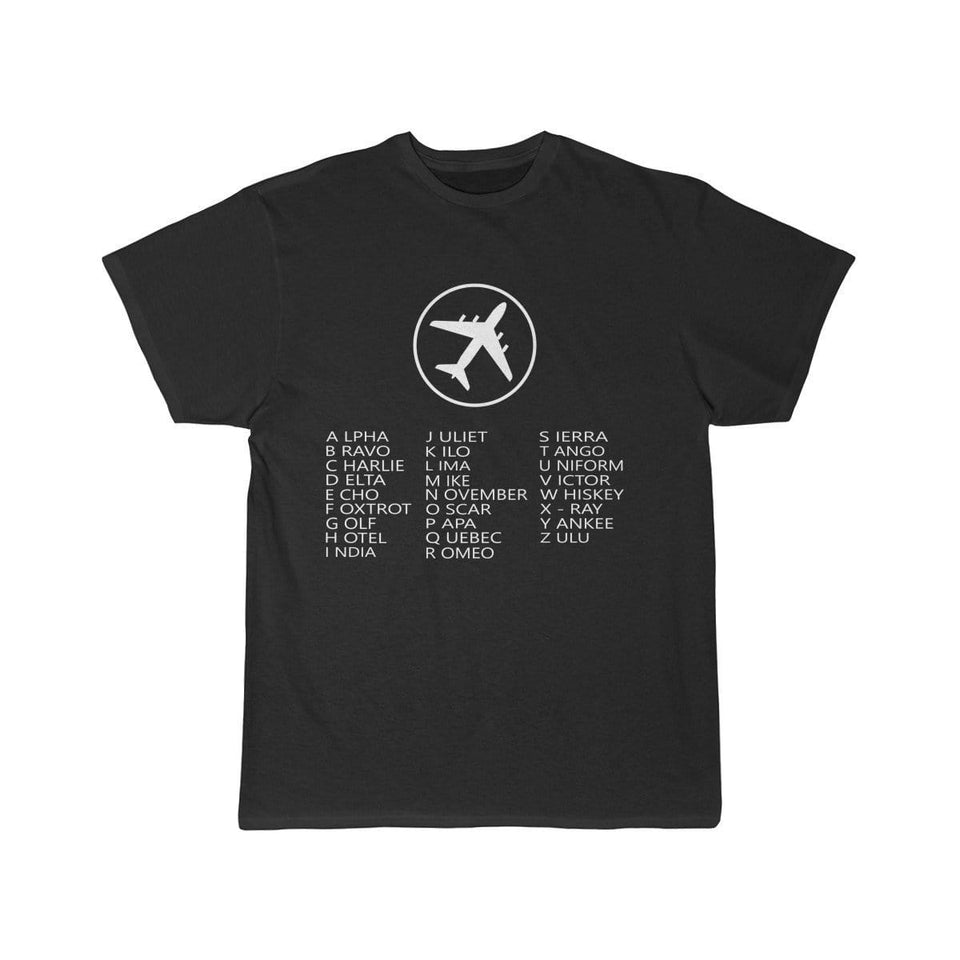 Printify T-shirt Black / S AVIATION ALPHABET 2 DESIGNED CHILDREN T-SHIRTS