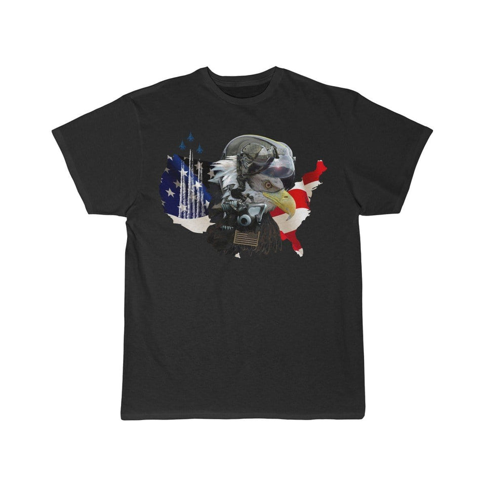 Printify T-shirt Black / S Eagle Pilot